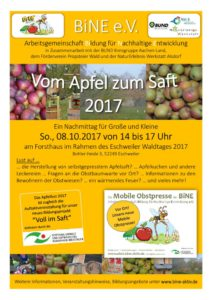 thumbnail of Einladung Apfelfest 2017